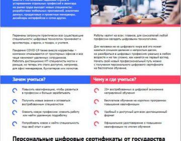 Персональные цифровые сертификаты программы федерального проекта «Кадры для цифровой экономики»